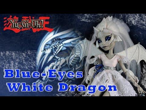 Blue-Eyes White Dragon  Yu-Gi-Oh Rochelle Goyle Repaint Monster High OOAK doll