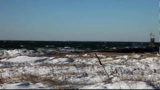 Montauk Inlet in the Winter Wind