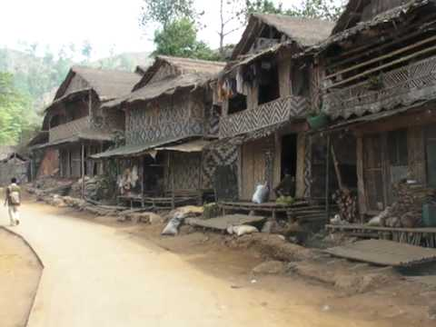 Umpium Refugee camp drive thru: Driving through the Umpium Burmese Refugee Camp in Thailand