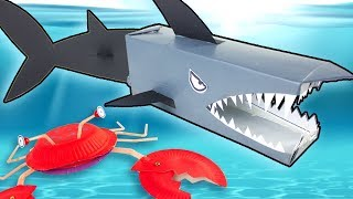 How to Make a Cardboard Shark, Crazy Crab and More! | DIY Summer Crafts