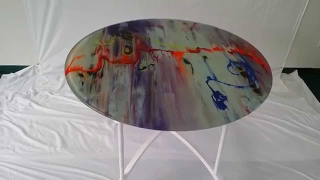 Marble Acrylic Paint On Glass Painted By Alton C Youtube