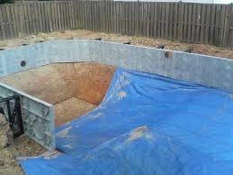 como hacer una piscina casera youtube