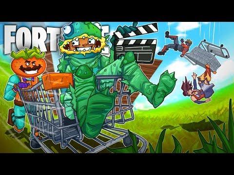 SHOPPING CART SKY BRIDGES W/ Ninja, TimTheTatman, And Dr Lupo! - Fortnite Battle Royale!