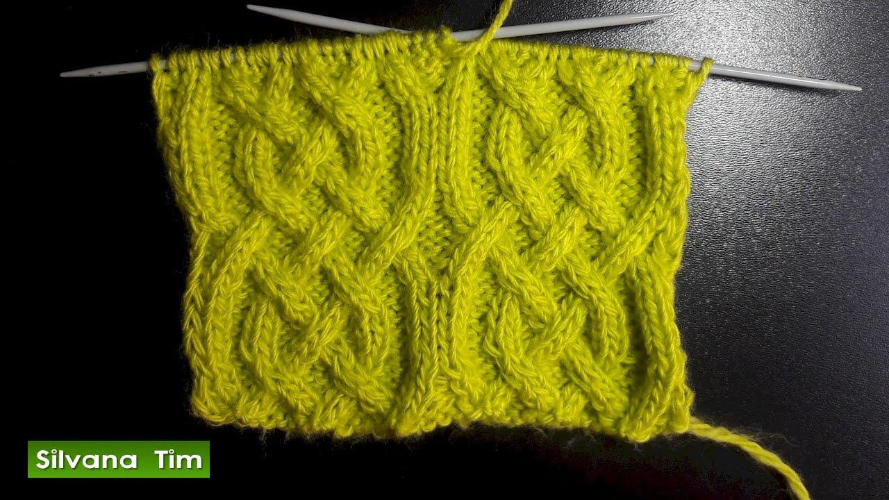 Cómo tejer Punto (puntada) ARAN. Tejido con dos agujas # 468 - YouTube