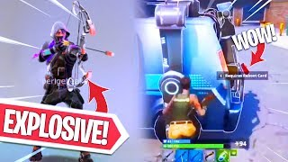 ZO WIN JE ZONDER WAPEN!! EXPLOSIVE BOW & RESPAWN VAN GAMEPLAY! Fortnite Battle Royale