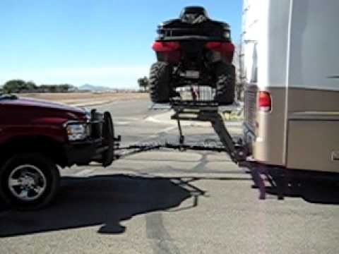 Motorcycle Lift For Motorhome With A Atv Quad Youtube