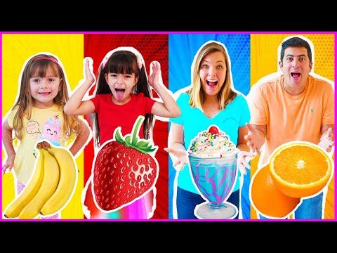 Quem come mais comida colorida com Laurinha e Helena?
