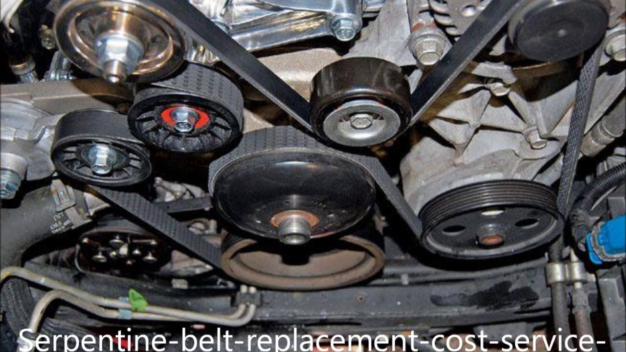How Much Is A Serpentine Belt >> Serpentine Belt Replacement Service Cost Omaha Ne 2017 Youtube