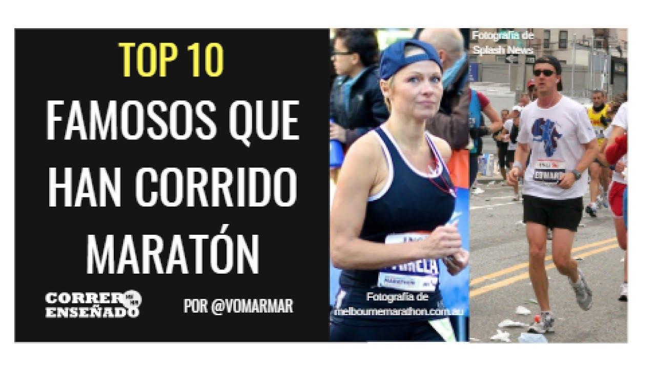 TOP 10 DE FAMOSOS QUE HAN CORRIDO MARATÓN