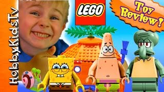 Spongebob House + Boatmobile CRASH! LEGO Kit #3834 HobbyKidsTV