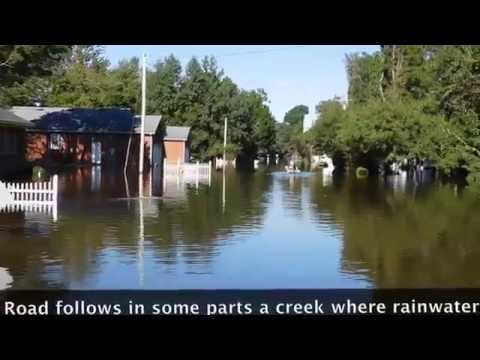 Post-Hurricane Matthew flooding in Camden County, NC