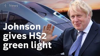 Boris Johnson gives go-ahead for high-speed train line HS2