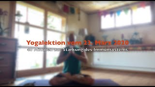 Yogalektion vom 23. März 2020