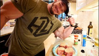 EP5 - Hunter Labrada IFBB Tampa Pro Debut - Arm Workout- Plus What Hunter Eats - 2 Weeks Out!