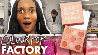 Making Palettes at the ColourPop Factory! (Beauty Trippin)