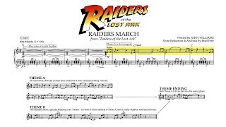 """""""Raiders March"""" - Raiders of the Lost Ark (Score Reduction & Analysis)"""