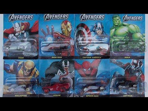 ของเล่นโมเดลรถเหล็กฮีโร่ Avengers