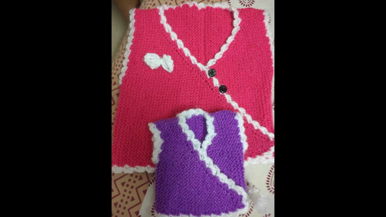 HOW TO KNIT HALF BABY SWEATER - YouTube