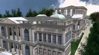 Vue en 3D du Palace de Dolmabahçe à Istanbul
