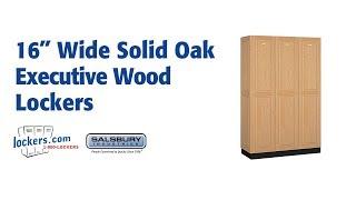 Lockers.com   Solid Oak Executive Wood Lockers