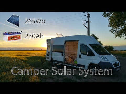 3 - Solar panel installation - Peugeot Boxer Camper Conversion