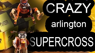 CRAZY CRASHES in Arlington Supercross 2017