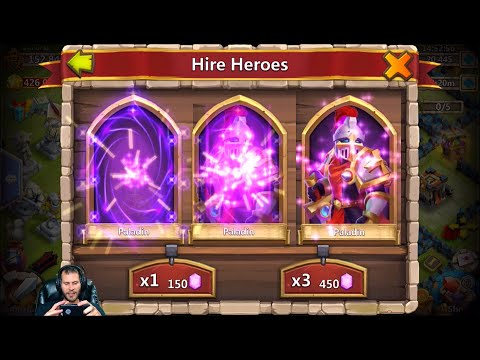 12 Fireworks For Demogorgon 23k Hero Rolls Awful Rolling Paladin City Castle Clash