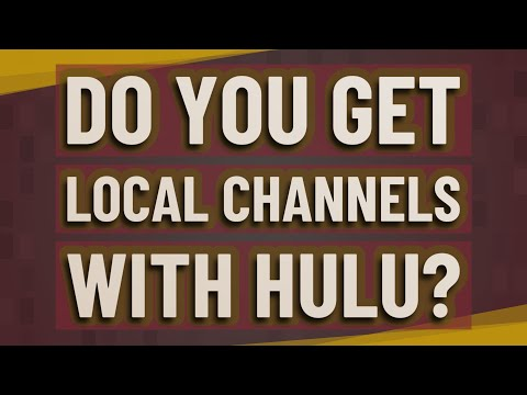 Do you get local channels with Hulu?