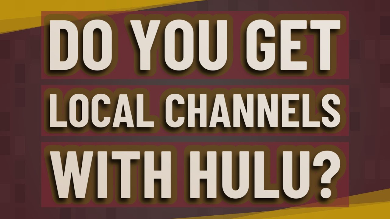 Do you get local channels with Hulu? - YouTube