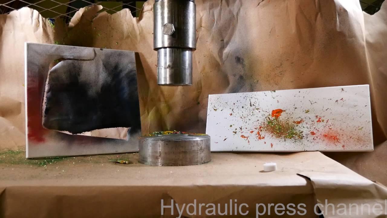 making art with hydraulic press doovi