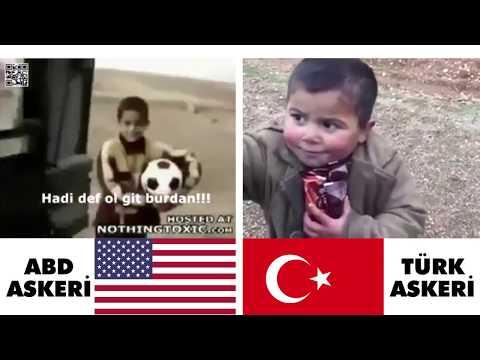 ABD Askeri Çocuğa Bomba Uzattı Türk Askeri Elinden Tuttu