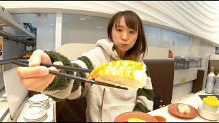 【吃播】日本女生吃壽司???? ※這個影片只是我一個人默默地吃壽司的影片喔XDD