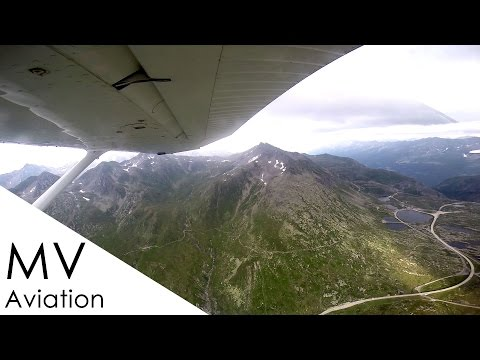 Cessna 172 live ATC - crossing the Alps from Milan in Italy to southern Germany