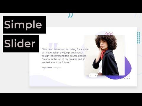 Create A Simple Testimonial Slider  | HTML, CSS, JAVASCRIPT