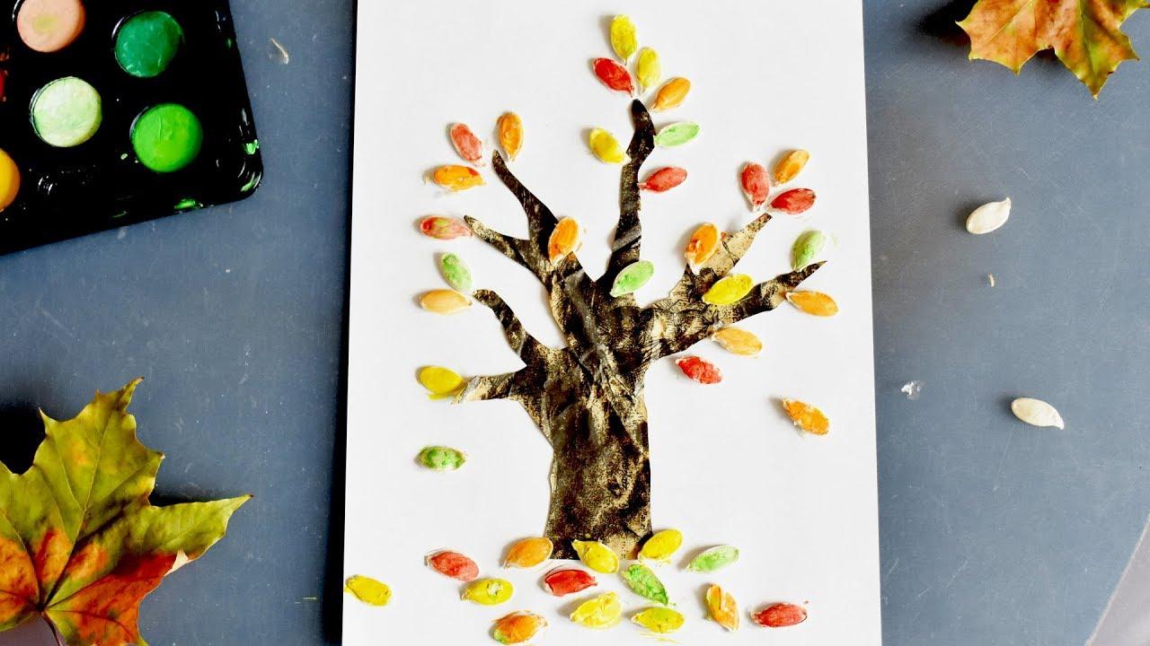 Осенняя поделка для детей. Аппликация осеннее дерево из ...