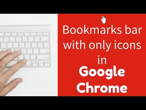 Clean up your Google Chrome bookmarks bar leaving only icons
