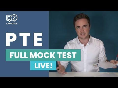 E2 PTE Full Mock Test - LIVE!
