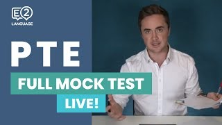E2 PTE Full Mock Test - LIVE with Jay!