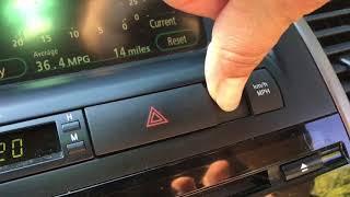Toyota Prius 2008. Как сбросить лампочку MainReQd