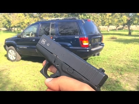 GLOCK 43 VS JEEP - 9MM VS 40 VS 45