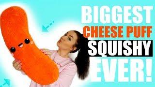 DIY GIANT SQUISHY!!! BIGGEST CHEESE PUFF EVERRRRR