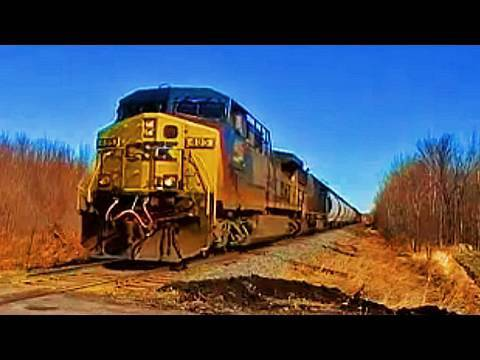Train Chasing In Huntingdon, Quebec (CSX - Montreal Sub)