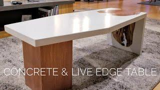 Baixar DIY Concrete Coffee Table w/ Live-Edge Inlay || How to Make (w/ GFRC mix)