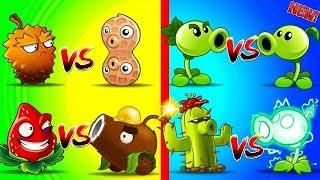 TOP 8 Plants vs Zombies 2 Free vs Premium Coconut Cannon vs Strawburst,  Electric Pea vs Cactus