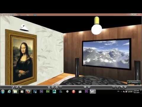 VRML walkthrough TV Room