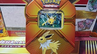 3 ULTRA RARES ! Pokemon Triple Effects Jolteon Tin Opening