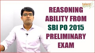SBI PO Reasoning Previous Year Solutions | SBI PO 2017 | TalentSprint