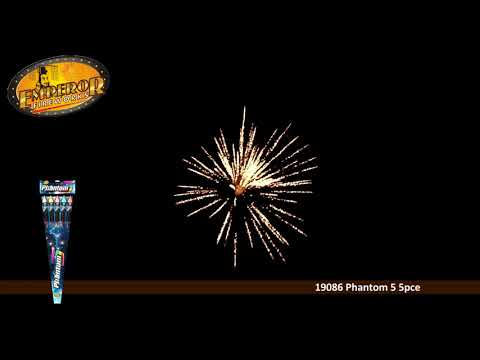 Emperor Fireworks - 19086 Phantom 5 Rockets 5 Pack