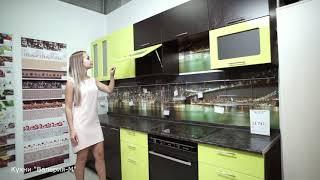 Кухня прямая Валерия-М обзор в Перми. Прямые кухонные гарнитуры дизайн.
