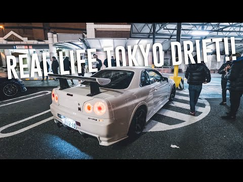 Spotting JDM Car Legends in Tokyo! * CLEANEST NISMO R34 GTR*